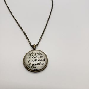 Jewelry - Music is the shorthand of emotion necklace